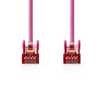 Cat 6 S/FTP Network Cable   RJ45 Male - RJ45 Male   0.15 m   Pink
