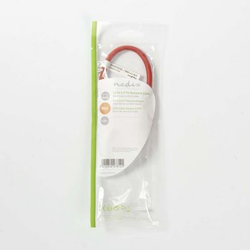 Cat 6 S/FTP Network Cable | RJ45 Male - RJ45 Male | 0.25 m | Red