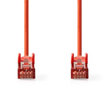 Cable de Red CAT6 S/FTP | RJ45 Macho - RJ45 Macho | 0,5 m | Rojo