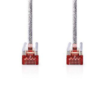 Cable de Red CAT6 S/FTP | RJ45 Macho - RJ45 Macho | 10 m | Transparente