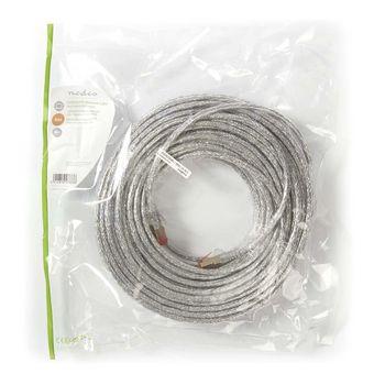 Cat 6 S/FTP Network Cable | RJ45 Male - RJ45 Male | 30 m | Transparent