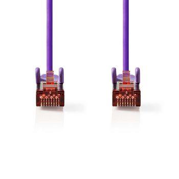 Cat 6 S/FTP Network Cable | RJ45 Male - RJ45 Male | 0.5 m | Voilet