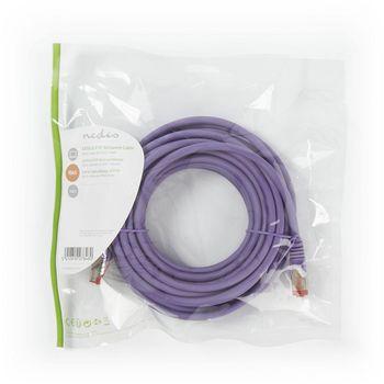 Cat 6 S/FTP Network Cable | RJ45 Male - RJ45 Male | 7.5 m | Voilet