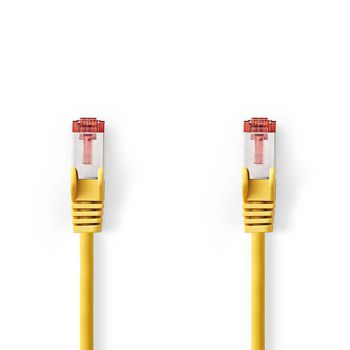 Cable de Red CAT6 S/FTP | RJ45 Macho - RJ45 Macho | 0,15 m | Amarillo