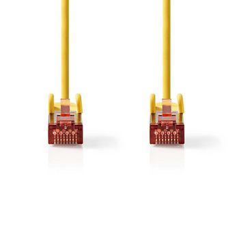 CAT6 S/FTP-Netwerkkabel | RJ45 Male - RJ45 Male | 0,25 m | Geel
