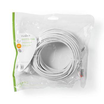 Cable de Red SF/UTP CAT6   Conector RJ45 (8P8C) Macho - Conector RJ45 (8P8C) Macho   10 m   Blanco
