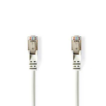 Cable de Red SF/UTP CAT6 | Conector RJ45 (8P8C) Macho - Conector RJ45 (8P8C) Macho | 5,0 m | Blanco