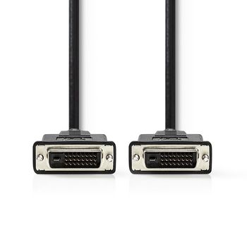 DVI-D Cable | DVI 24+1-Pin Male | DVI 24+1-Pin Male | 3.0 m | Black