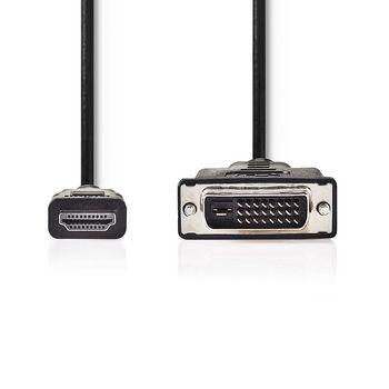 HDMI™-DVI Kábel | HDMI™ Csatlakozó | DVI 24+1 Érintkezős Dugasz | 3,0 m | Fekete