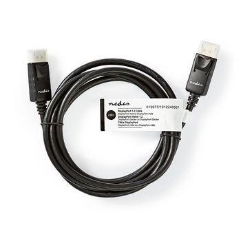 DisplayPort 1.2-Kabel | DisplayPort Male | DisplayPort Male | 2,0 m | Zwart