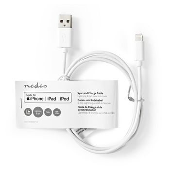 Sync and Charge cable | Apple Lightning - USB-A Male | 1.00 m | White