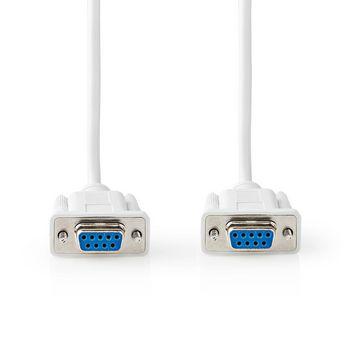 Câble Null Modem | Sub-D 9 Broches Femelle | Sub-D 9 Broches Femelle | 2,0 m | Ivoire