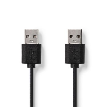 USB 2.0 Cable | A Male - A Male | 3.00 m | Black