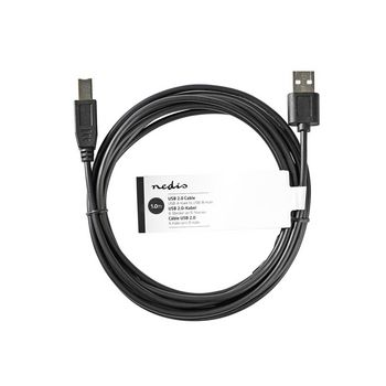 USB 2.0 Cable | A Male - USB-B Male | 1.0 m | Black