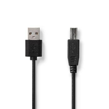 USB 2.0 Cable   A Male - USB-B Male   3.0 m   Black