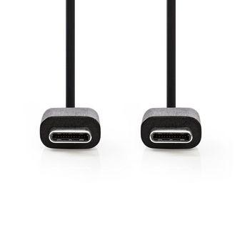 Daten- und Ladekabel | USB-C™-Stecker | USB-C™-Stecker | 1,0 m | Schwarz