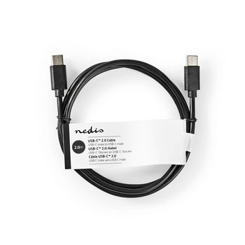 Sync & Charge Cable | USB-C™ Male | USB-C™ Male | 2.0 m | Black