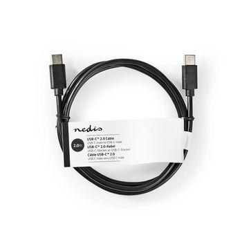 Kabel For Synkronisering Og Lading | USB-C™-Hann | USB-C™-Hann | 2,0 m | Svart
