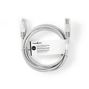 Network Cable CAT5e UTP | RJ45 Male | RJ45 Male | 7.5 m | Grey