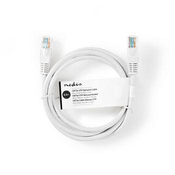Netwerkkabel CAT5e UTP | RJ45 Male | RJ45 Male | 0,5 m | Wit