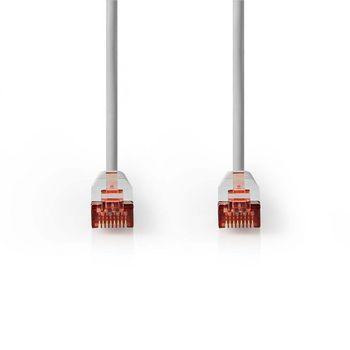 Cat 6 F/UTP Network Cable   RJ45 (8P8C) Male - RJ45 (8P8C) Male   0.25 m   Grey
