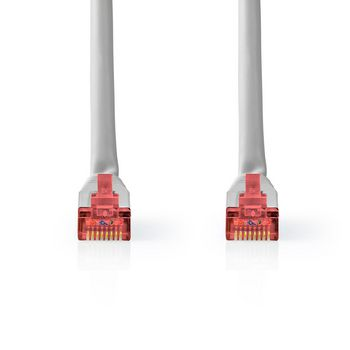 Netwerkkabel CAT6 S/FTP | RJ45 Male | RJ45 Male | 10,0 m | Grijs