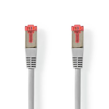 CAT6-kabel | RJ45 (8P8C) Male | RJ45 (8P8C) Male | S/FTP | 10.0 m | Rond | PVC | Grijs | Label