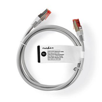 Netzwerkkabel CAT6 S/FTP | RJ45 Stecker | RJ45 Stecker | 15,0 m | Grau