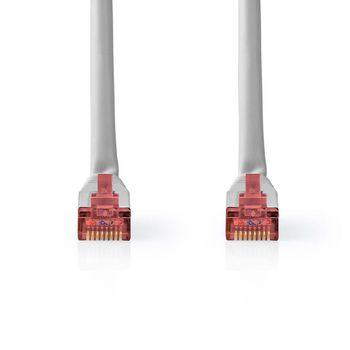 CAT6-kabel | RJ45 | RJ45 | S/FTP | 30.0 m | Rond | PVC | Grijs | Label