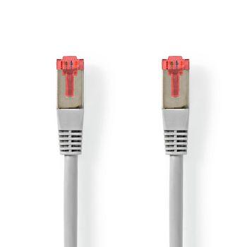 CAT6 Cable | RJ45 (8P8C) Male | RJ45 (8P8C) Male | S/FTP | 7.50 m | Round | PVC | Grey | Tag