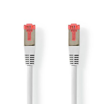 CAT6-kabel | RJ45 (8P8C) Male | RJ45 (8P8C) Male | S/FTP | 3.00 m | Rond | PVC | Wit | Label