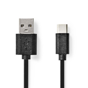 Câble USB 2.0 | Type-C Mâle - A Mâle | 1,0 m | Noir