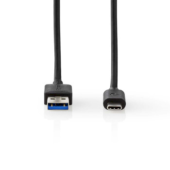 USB 3.1 Cable | USB-C™ Male - A Male | 2.0 m | Zwart