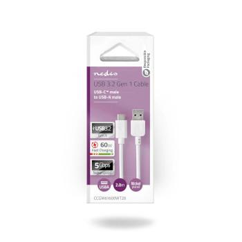 USB 3.1 Cable | USB-C™ Male - A Male | 2.0 m | White