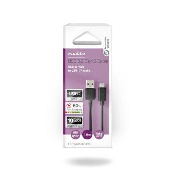 USB 3.1 Cable (Gen2) | USB-C™ Male - A Male | 1.0 m | Black