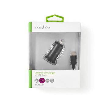 Car Charger | 2.4 A | Loose Cable | USB-C™ | Black