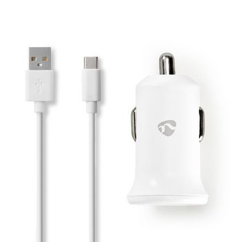 Car Charger | 2.4 A | Loose Cable | USB-C™ | White