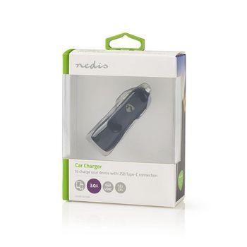 Autolaturi | 3,0 A | 1 lähtö | USB-C™ | Musta