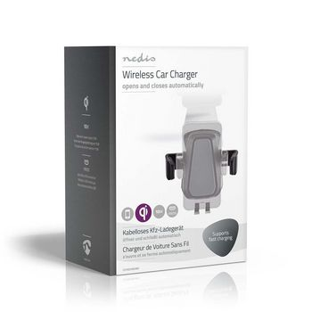 Wireless Car Charger | 2.0 A | 10 W | With Auto Close | Black