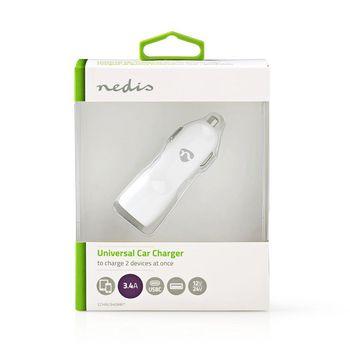 Autolaturi | 3.4 A | 2 lähtöä | USB-A ja USB-C™ | Valkoinen