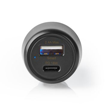 Car Charger | 3.0 A | USB-A / USB-C | Power Delivery 18 W | Black