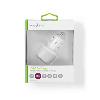 Car Charger   3.0 A   USB (QC 3.0) / USB-C   Power Delivery 30 W   White