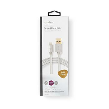 Sync & Charge Cable | Gold-Plated 1.0 m | USB-A Male to 8-Pin Lightning Male Cable | Suitable for Apple Devices
