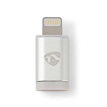 Adapter voor Synchroniseren en Opladen | 8-Pens Lightning Male naar USB 2.0 micro-B Female