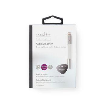 Audioadapter | 8-pins Lightning male naar 3,5 mm female | Hoofdtelefoon naar Apple-apparaat