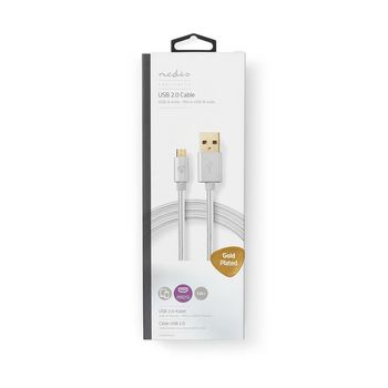 USB 2.0 Sync and Charge Cable   Gold-Plated 1.0m   USB-A Male to Micro USB-B Male   For Connecting Smartphones and Mobile Devices