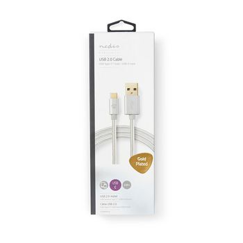 USB 2.0 Sync, Charge and AV Support Cable | Gold-Plated 2.0m | USB-C™ Male to USB-A Male | For Connecting Smartphones and Mobile Devices