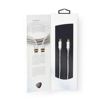 USB 3.0-kabel för synkronisering, laddning och AV-stöd | Guldpläterad 2.0 m | USB-C™ hane till USB-C™ hane | För anslutning av smartphone och mobila enheter