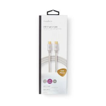 USB 3.1 GEN 2-kabel för synkronisering, laddning och AV-stöd   Guldpläterad 1.0 m   USB-C™ hane till USB-C™ hane   För anslutning av smartphone och mobila enheter