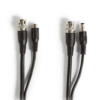 CCTV Security Cable BNC / DC | RG59 | 10 m | pre-assembled connectors